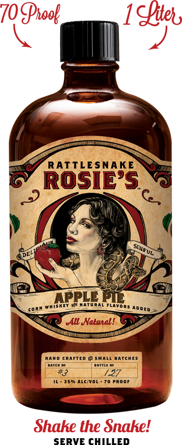 Rattlesnake Rosie's Apple Pie Whiskey 1L
