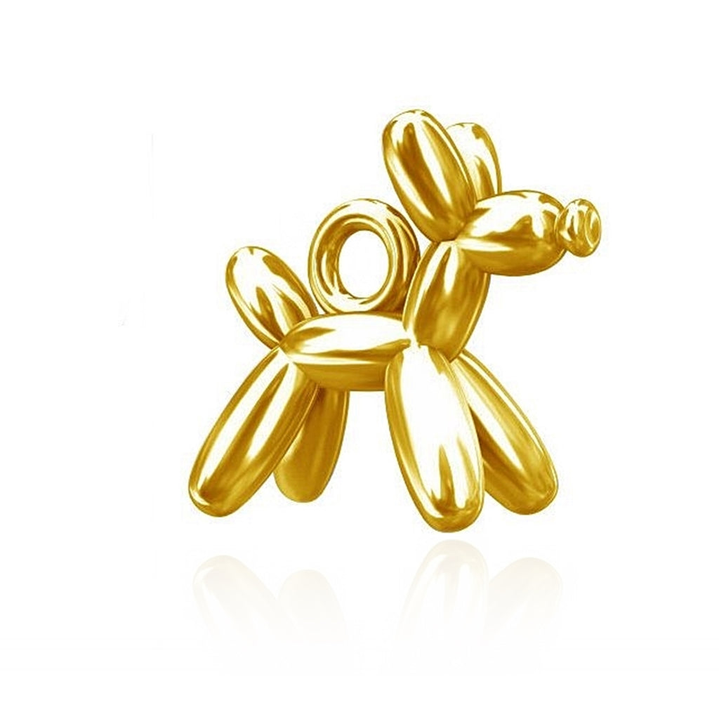 PENDENTIF GOLD BALLOON DOG