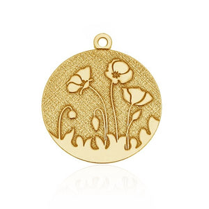 PENDENTIF GOLD POPPIES