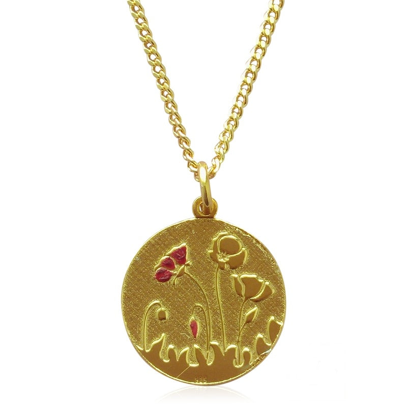 COLLAR POPPIES - Gold