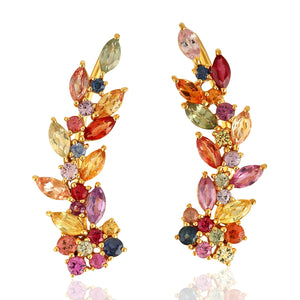PENDIENTES RAINBOW LEAVES