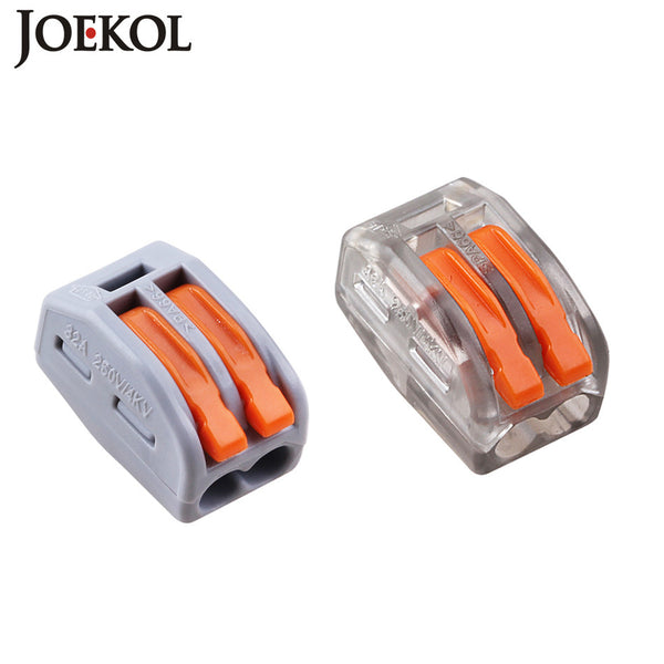 (10 pcs/lot) mini fast WAGO Connector,222-412(PCT212) Universal Compact Wire Wiring Connector,2 pin Conductor Terminal Block