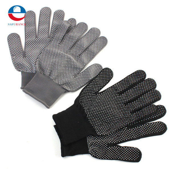 1 Pair Hair Straightener Curling Tong Hairdressing Heat Resistant Finger Gloves Skid Resistance Burn-proof Black Grey