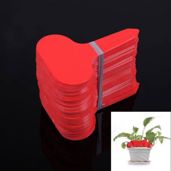 100Pcs/lot Plastic T-type Nursery Garden Plants Labels Flower Pot Thick Tag Marker for Plants Garden Decoration