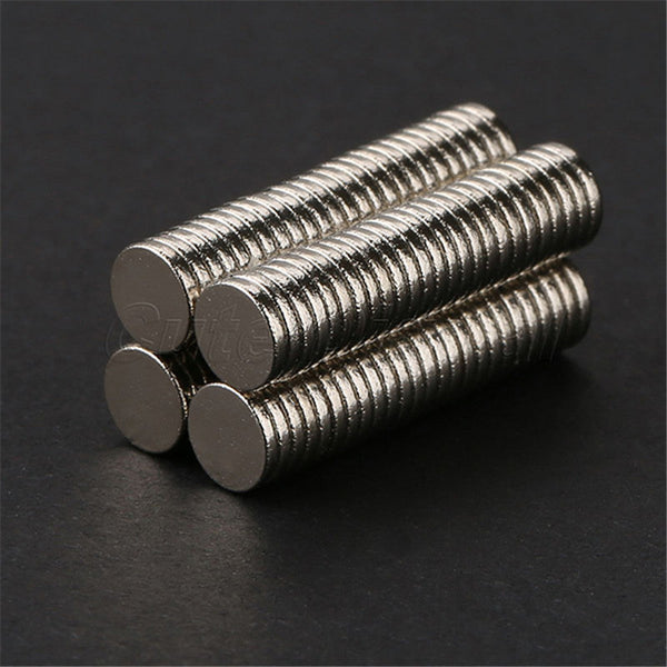 100pcs 5mm x 1mm Craft Model Disc Rare Earth Neodymium Super Strong Magnets N35 2017