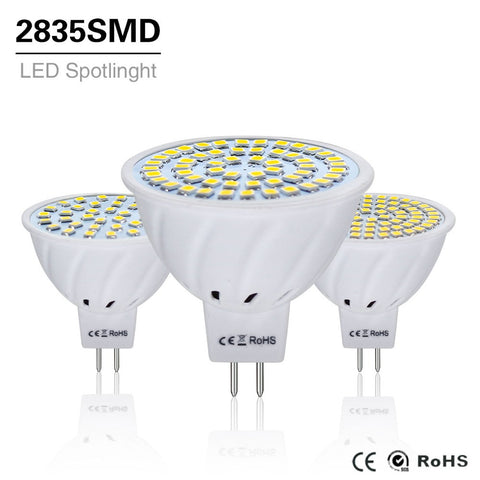 10Pcs 4W 6W 8W LED Lamp MR16 AC / DC 12V 24V Led Bulb Light gu5.3 mr 16 Led Spotlight 220V 2835SMD Led Lighting White/Warm White