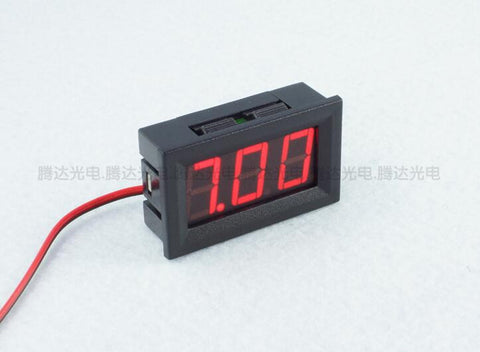 1 PCS 2 Wires 0.56 inch Digital Voltmeter 4.5-30V/ DC4.5-30V Red  LED Vehicles Motor Voltage Panel Meter LED Voltmeter Tools