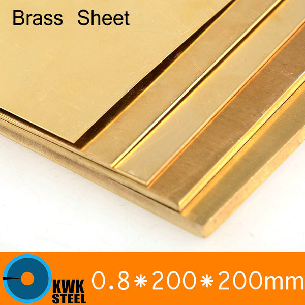 0.8 * 200 * 200mm Brass Sheet Plate of CuZn40 2.036 CW509N C28000 C3712 H62 Customized Size Laser Cutting NC Free Shipping