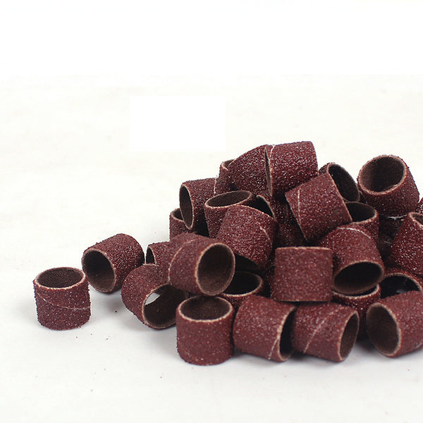 100pcs 1/2 inch Sanding Sandpaper Sleeves With 2 Mandrels For Dremel Rotary Tools 120#