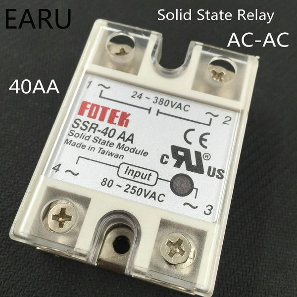 1 pc SSR-40 AA AC-AC Metal Base Solid State Relay Moudle  SSR-40AA 40A Output AC 24-380V Good Quality Wholesale Hot Sale Promot