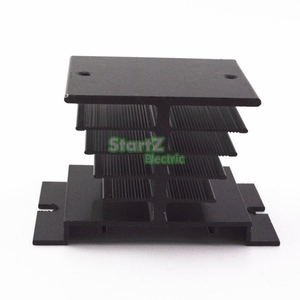 1 pcs Aluminum Fins Single Phase Solid State Relay SSR 10A to 40A Aluminum Heat Sink Dissipation Radiator Newest Rail Mount