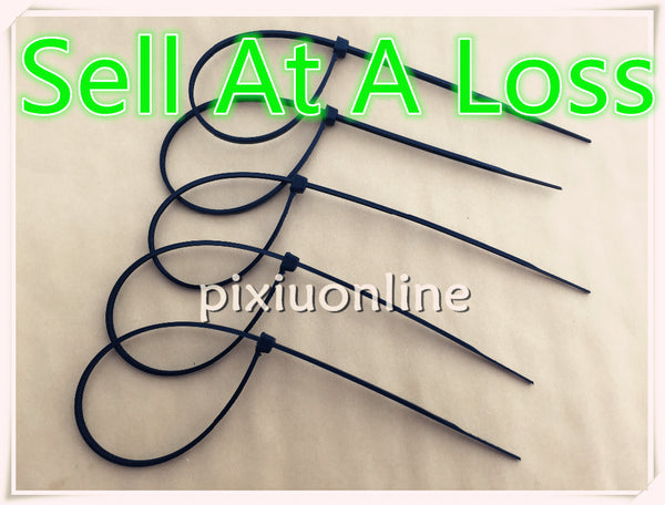 100pcs 4*200mm 2.7mm Width DS115 Black Nylon Cable Tie Self-locking Plastic  Wire Zip Ties Factory Standard Free Shipping