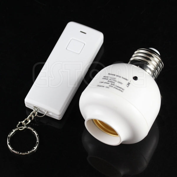 10M Wireless Remote Control E27 Screw Light Lamp Bulb Holder Cap Socket Switch-Y103