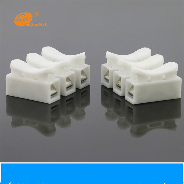 10 x 3p Spring Connector wire with no welding no screws Quick Connector cable clamp Terminal Block 3 Way Easy Fit for  led strip