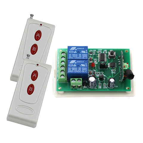 New DC24V 2CH RF Wireless Remote Control Switch System 1 Receiver & 2 Transmitter Home Appliances/Lamp/Light 315/433mhz