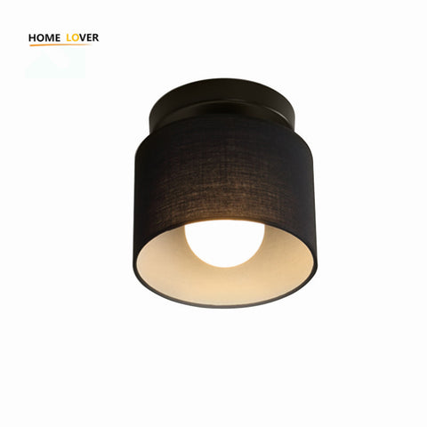 Led ceiling lights for hallways bedroom Kitchen fixtures luminarias para teto Black/White black ceiling lamp modern