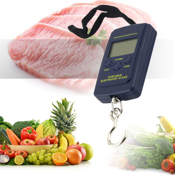 1 Set Pocket Scale 40kg x 10g Portable Mini Electronic Digital Scale Hanging Fishing Hook Pocket Weighing 20g Scale