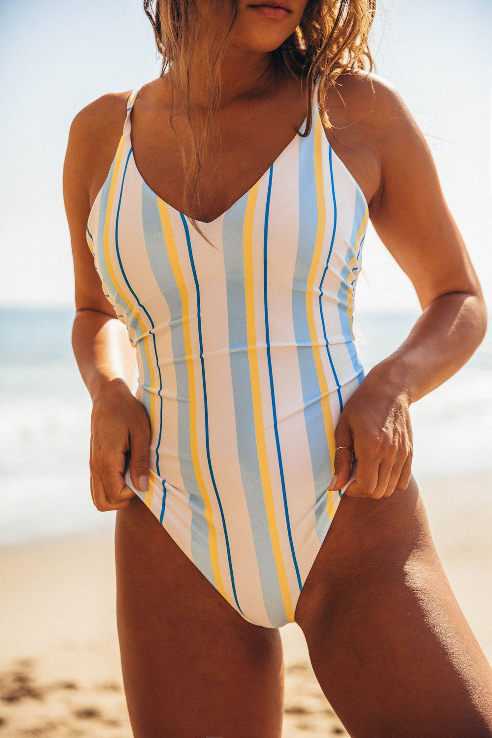 Positano Swimsuit - Vintage Stripes