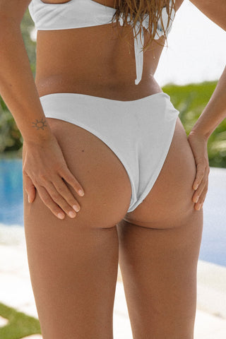 Beau High-Waist Bottoms - White Embroidery