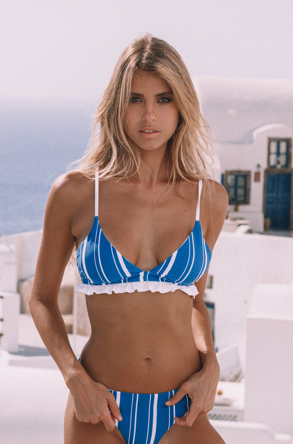 Luana Bikini Top - Navy Stripes