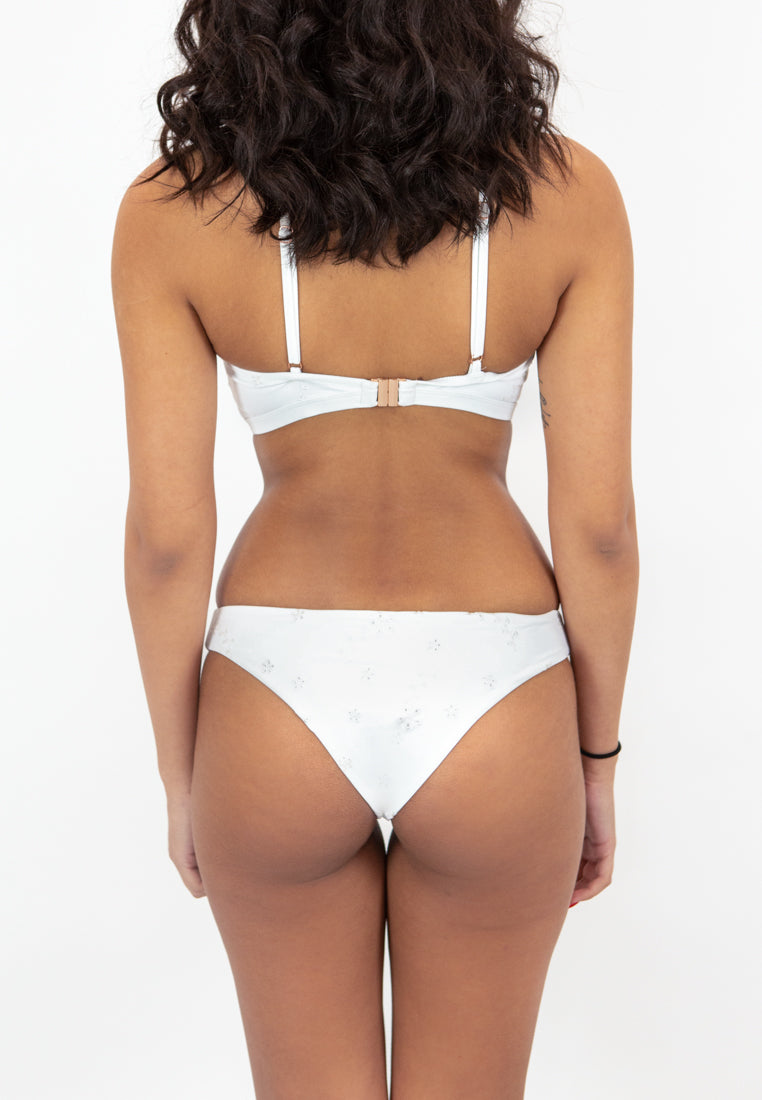 Lani Cheeky Bottoms - White Embroidery