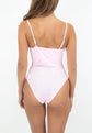 Hali one-piece swimsuit - Blush Embroidery