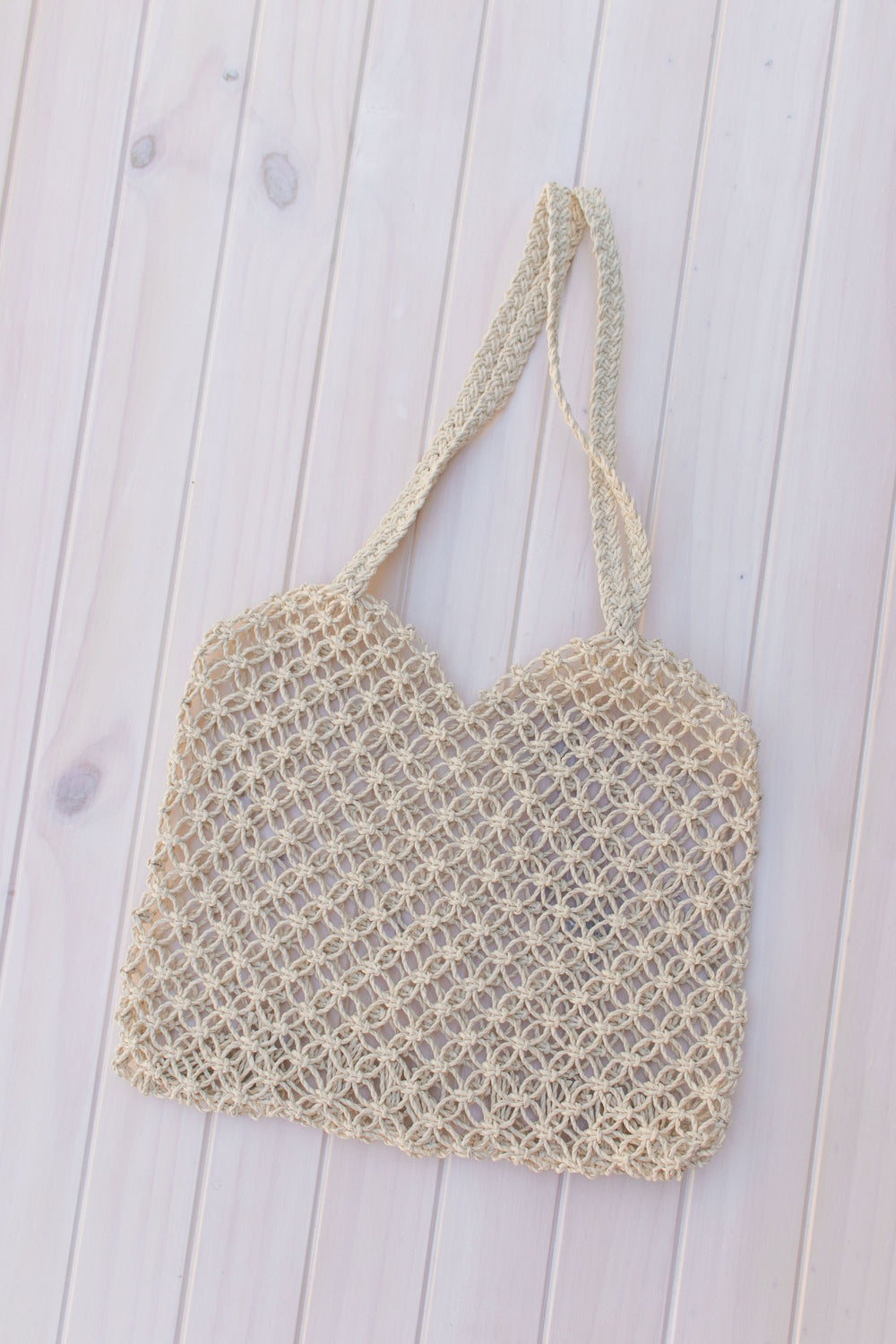 Raw Woven Beach Tote Bag