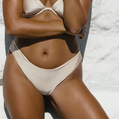 April Bikini Bottoms (Gold)