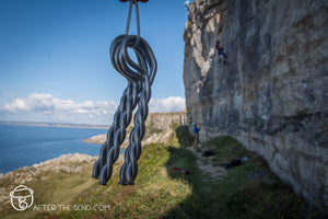 Pongoose Blog - Battleship crag, Portland UK, bolt fairy blog, image of new p bolts