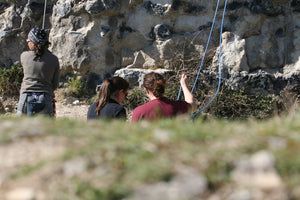 Pongoose climbing blog - Buddy checks, a life saver? Image of two climbers doing buddy check
