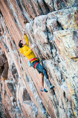 Craig DeMartino climbing with prosthetic leg image Pongoose blog