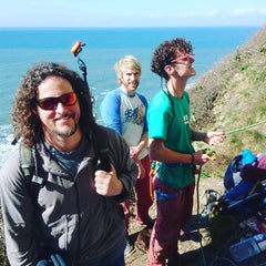 Pongoose blog - image of three happy climbers with a clipstick at Portland