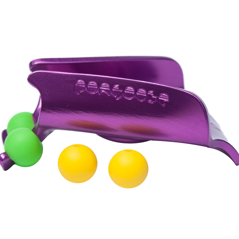 Purple clipstick head with green and yellow silicone bead colour options from the Pongoose Climber 700 3in1 clipstick product.