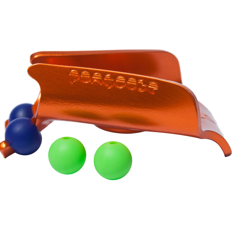 Orange clipstick head with green and blue silicone bead colour options from the Pongoose Climber 700 3in1 clipstick product.