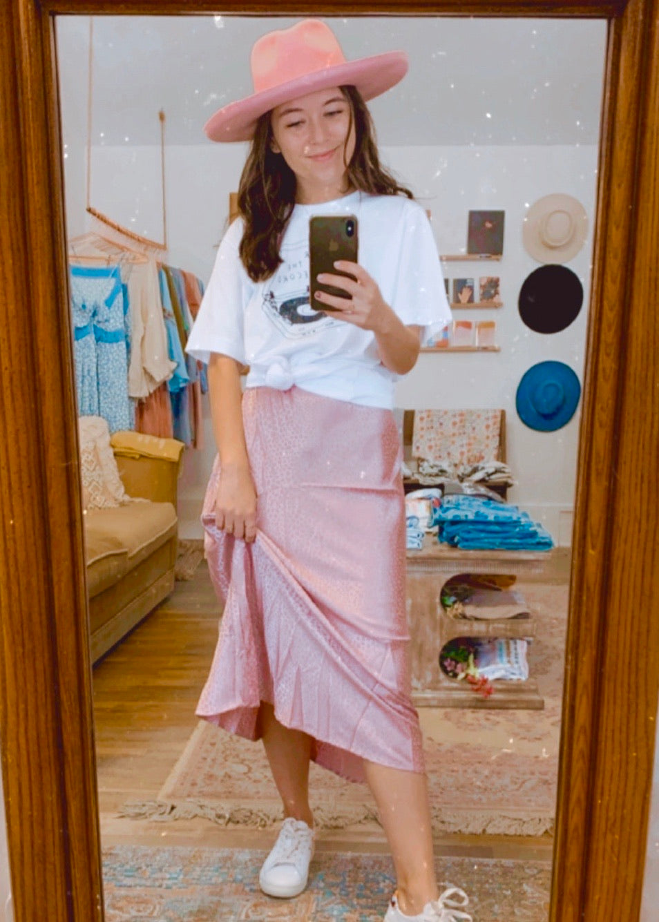 mazzy midi skirt (blush)