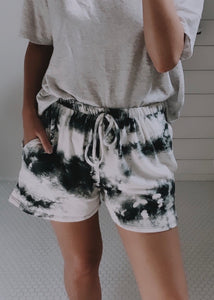cloud nine tie dye shorts