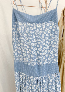 wildflower floral maxi (dusty blue)