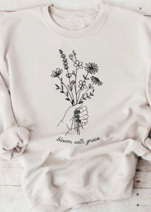 bloom with grace crewneck