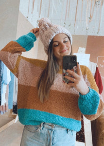 knit block sweater