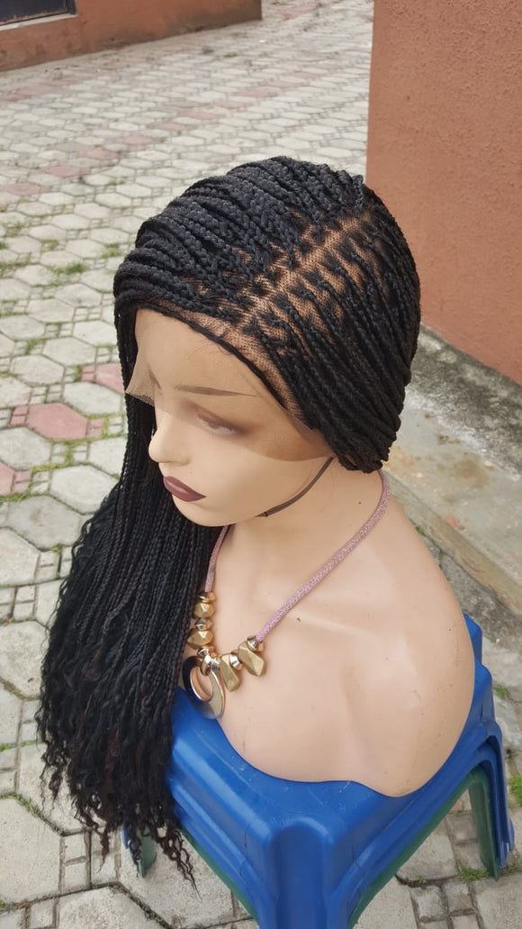 Bella Braided Wigs - Nancy - 2 Knotless Braids - Bella Braided Wigs