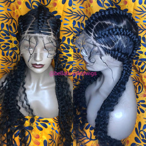 Bella Braided Wigs -  BBW 172 - MTO - Bella Braided Wigs