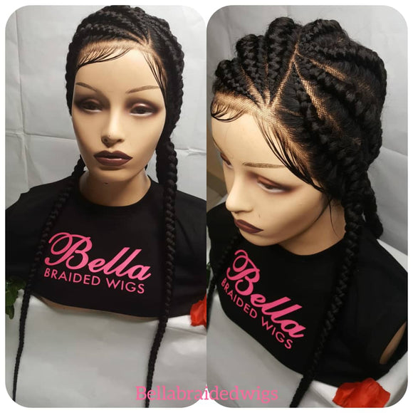 Bella Braided Wigs -  BBW 182 - MTO - Bella Braided Wigs