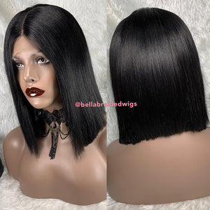 "Bella Virgin Wigs - July 12"" (Available in Color 1, 1b, 2, 30, 99J)"