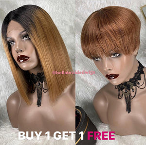 BELLA VIRGIN WIGS - BUY JULY Color 30 & Get TINA Color 33 FREE