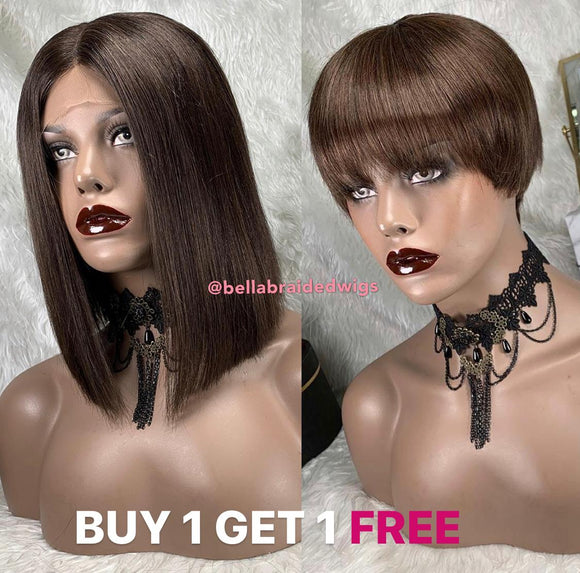 BELLA VIRGIN WIGS - BUY JULY Color 4 & Get TINA Color 4 FREE