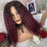 Bella Virgin Wigs - April Lace Frontal Ombre 1B/99J
