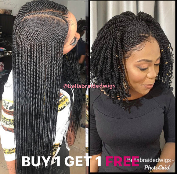 Bella Braided Wigs - BUY AMINA GET RITA FREE