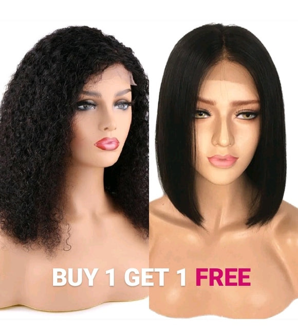 BELLA VIRGIN WIGS - Get 1 Afro Kinky and 1 FREE Suzy - Bella Braided Wigs