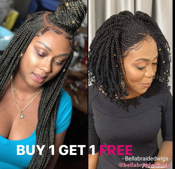 Bella Braided Wigs - BUY AMIRA GET RITA FREE