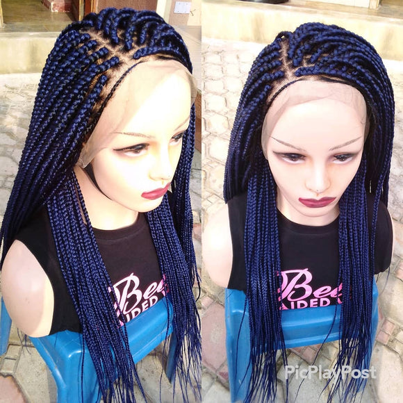 Bella Braided Wigs - BBW DEEP BLUE BOX BRAIDS